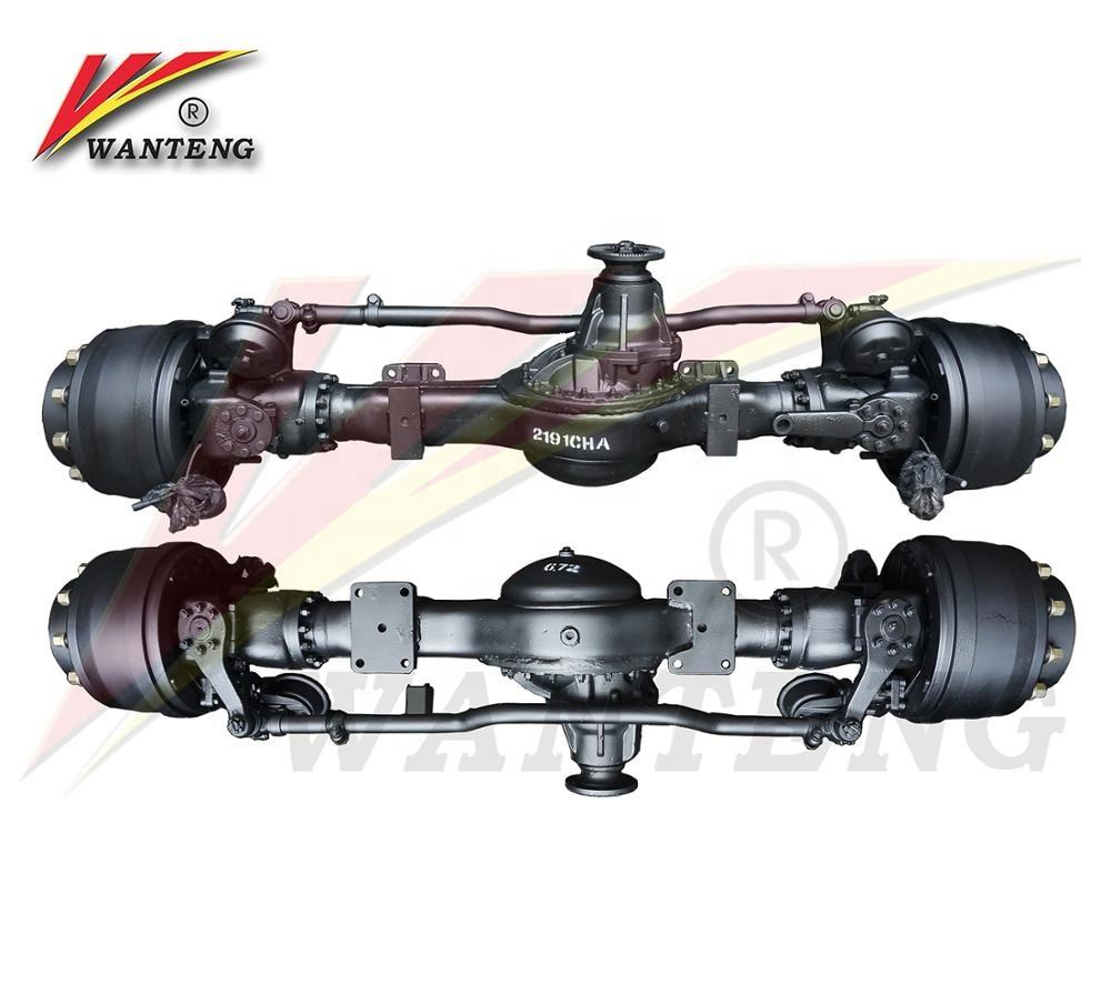 China 4x4 6x6 differential front drive truck axle tractor axle with wheel hub reduction