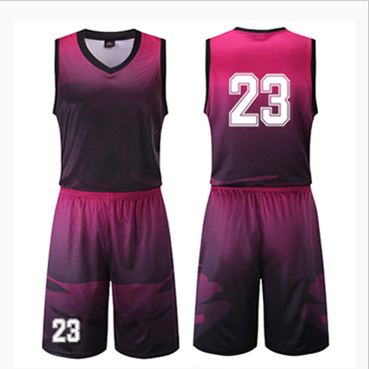 100% Polyester Basketball Jersey Custom Design Basketball Uniform Großhandel Reversible Basketball Tragen