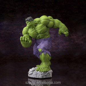 Tangan Dicat Marvel Action Figure Resin Hulk Patung