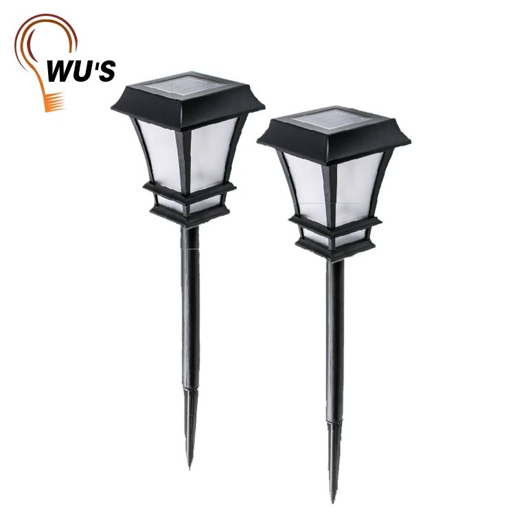 3D solar powered starry lantern garden stick lamp led garden plastic solar stake light