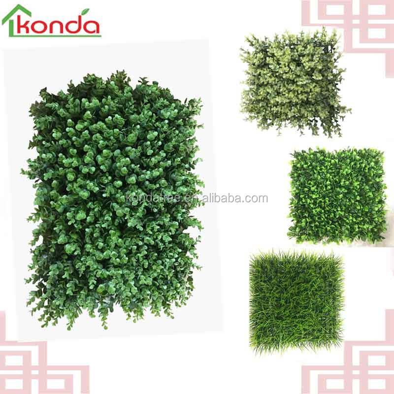 Artificial Boxwood Hedge Wall plastic foliage, ornamental foliage plants green with flowers