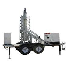 20M Electrical Mast Trailer Telecommunication Steel Monopole Tower