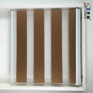 Cheap manufacture type of office chain accessories double window shade zebra roller blind