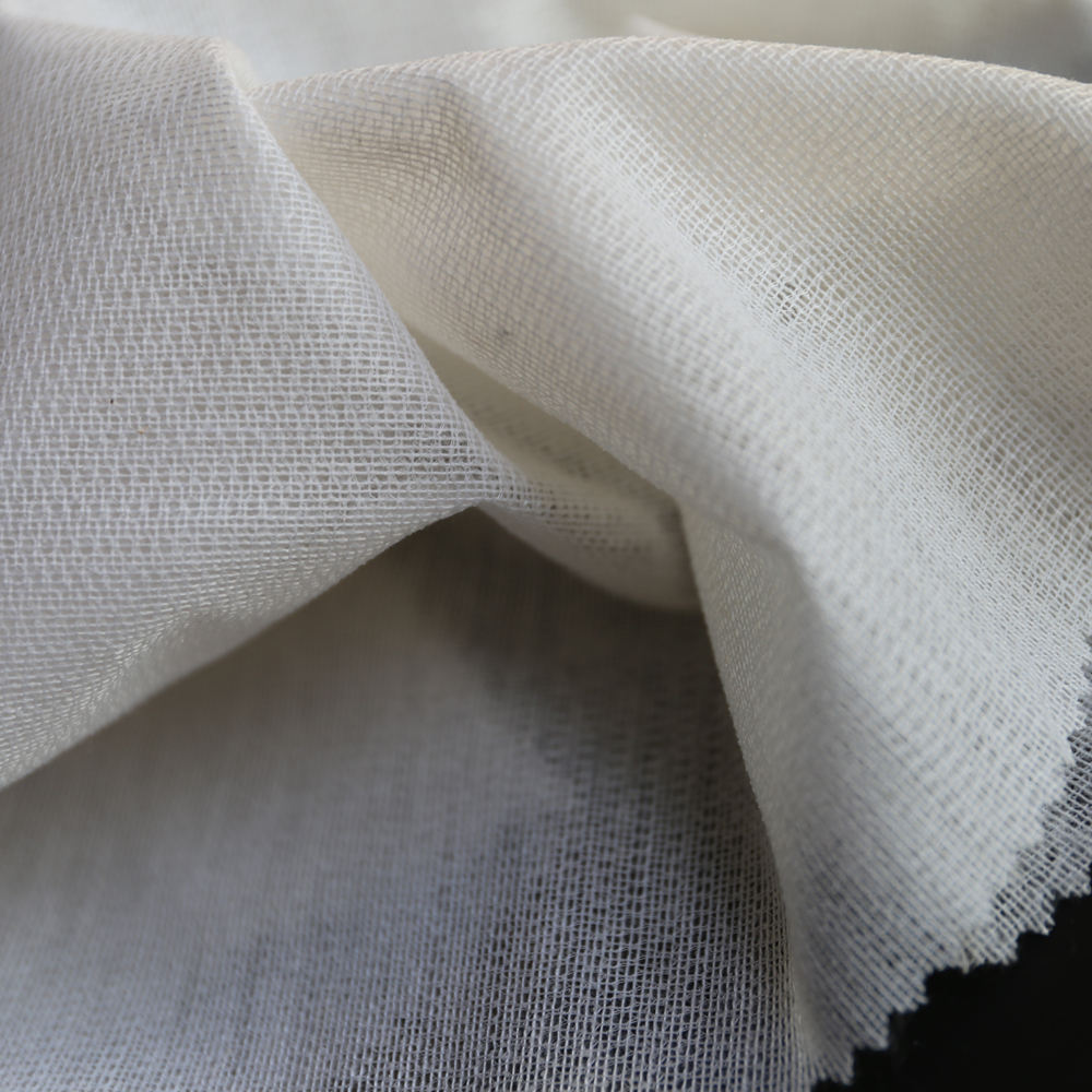 Factory Tricot Woven Warp Knitted Interlining Fusible Interlining for Shirt 40D16