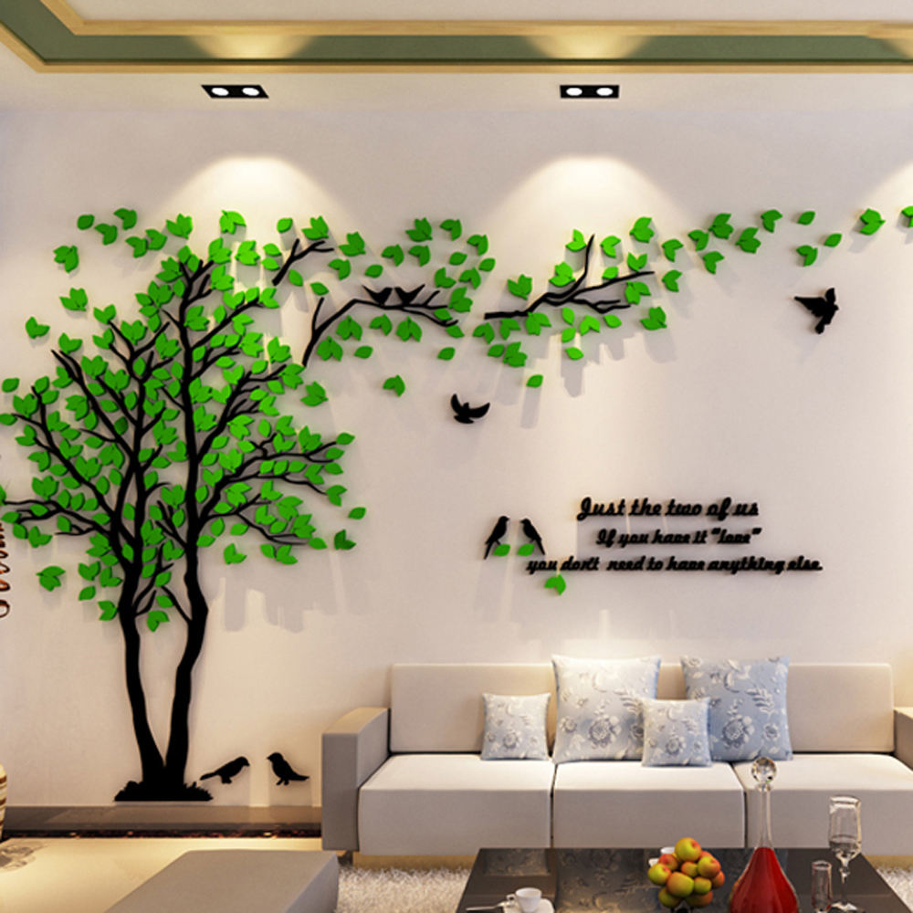 Home decor adhesive acrylic 3d wall sticker