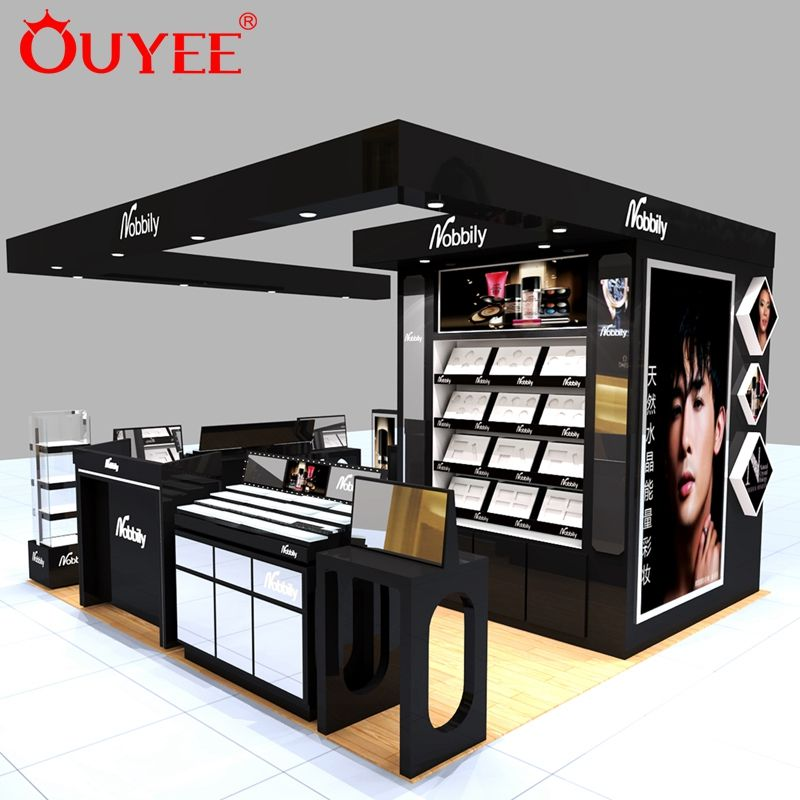 Make-up Stand Ontwerp Parfum Mall Display Cosmetische Kiosk Voor Make-Up