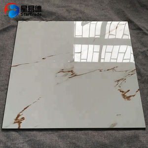 Factory price glazed porcelain floor tile 24x24 villa polished glazed tile