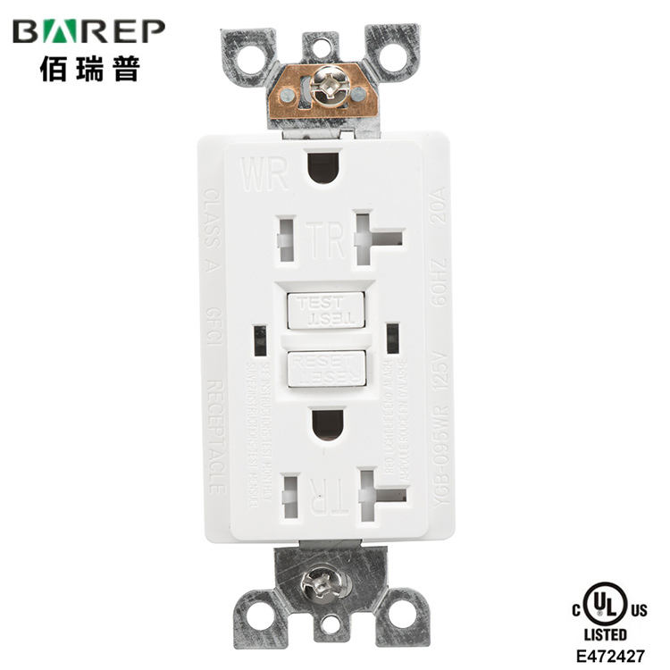 Barep YGB-095WR Model GFCI 20A Receptacle Socket Outlet for Household