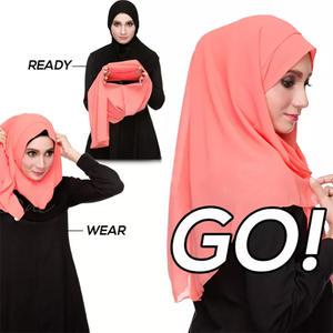 2019 new style 24 colors malaysia instant chiffon shawl hijab