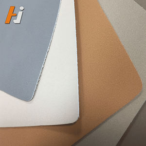breathable vegan fake faux microfiber leather for shoe lining material