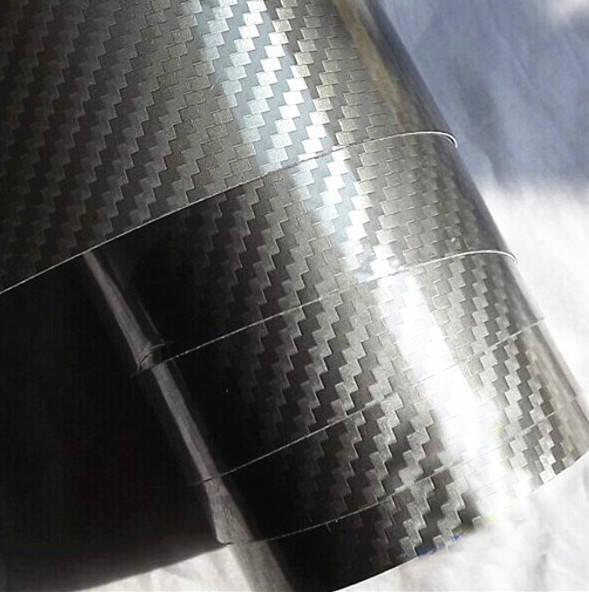4D Envoltura de Vinilo Fibra Carbono Negro Multi Tallas Aire // sin Burbujas