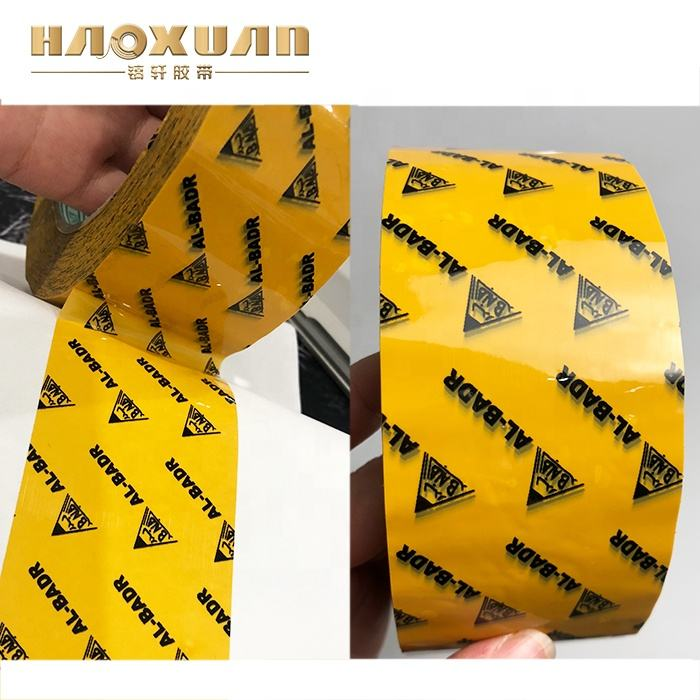 Custom Logo Printed clear packing tape adhesive for bopp tape