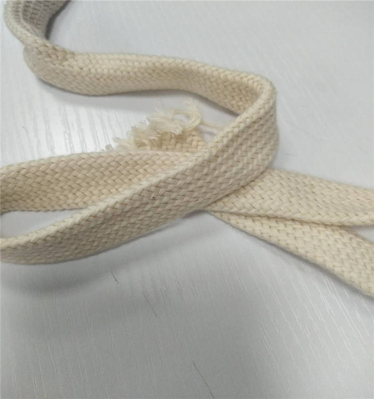top quality nature color 100% cotton flat cord for sale