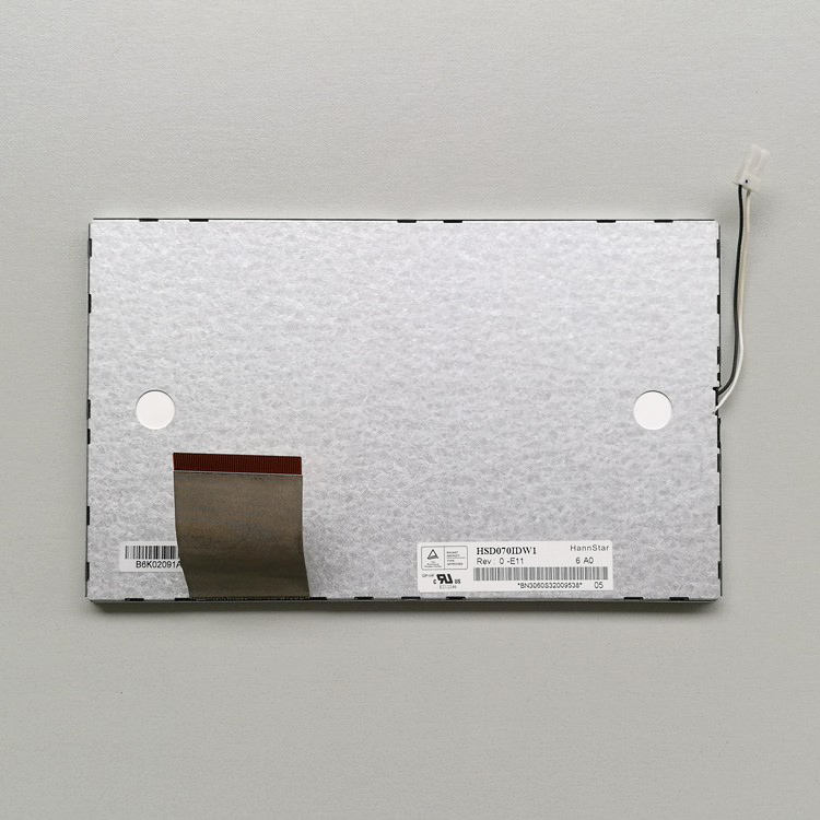 """7/"""" inch TFT LCD HSD070IDW1-A30 LCD display screen For HannStar LCD panel 800x480"""