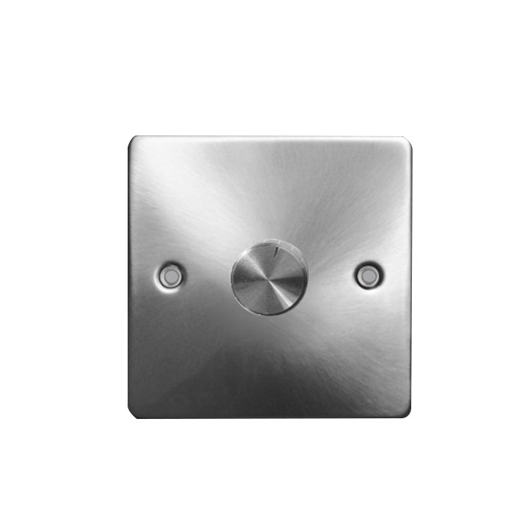 Uk <span class=keywords><strong>gaya</strong></span> mengkilap cerah stainless steel lampu dimmer switch double-geng dimmer switch