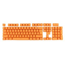 Same Day Shipping Waterproof Dustproof 104 Keys Double Shot PBT Backlit Keycaps for Mechanical Keyboard(Orange)
