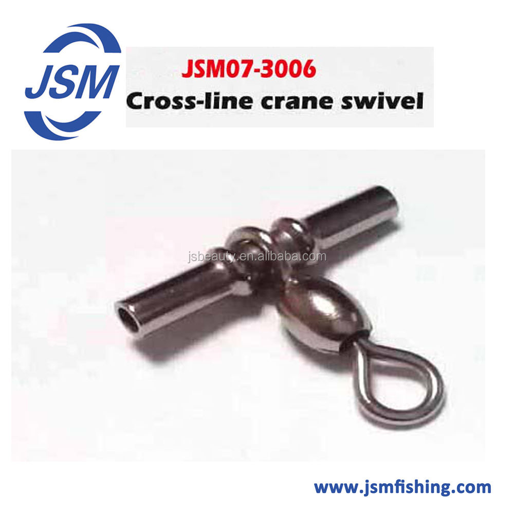 Lot Cross Line Crane Fishing Swivel Brass Tube Cross-line Crane Swivel Connector