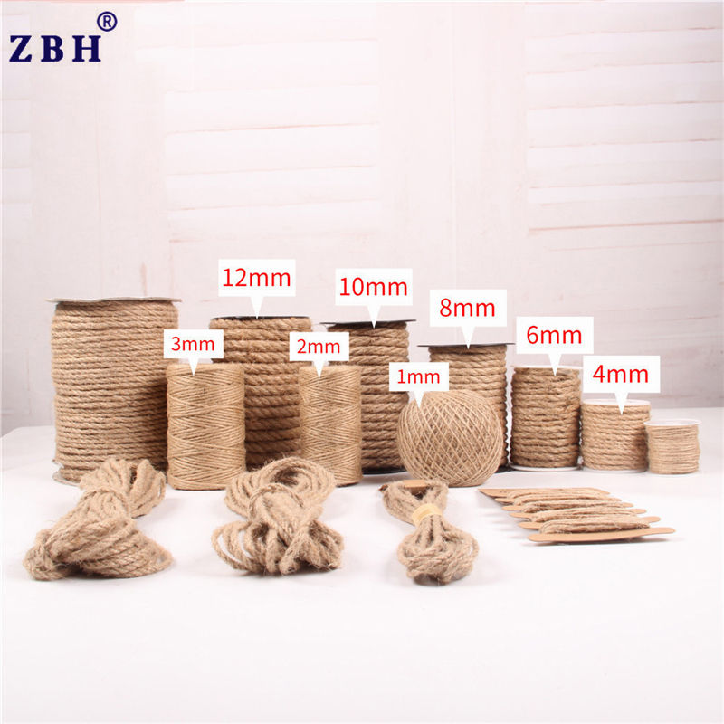 1mm-20mm Natural Jute Twine Rope,String Kraft Tags Wrap Jute Rope