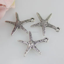 Tibetan Style 18mm Alloy Beads Antique Silver Color Ocean Starfish Pendants Charms
