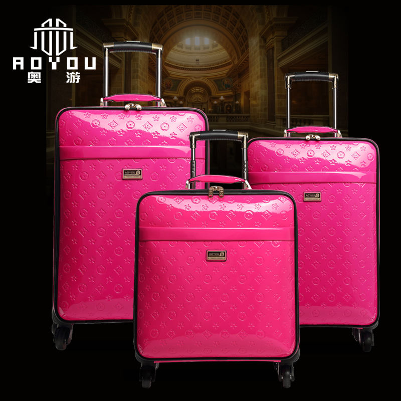 3pcs 16/20/24 inch Pu leather Trolley luggage set fashion luggage suitcase Travel luggage suitcase