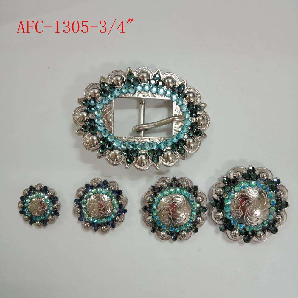 western rhinestone cart buckle bling blet buckle for saddlery