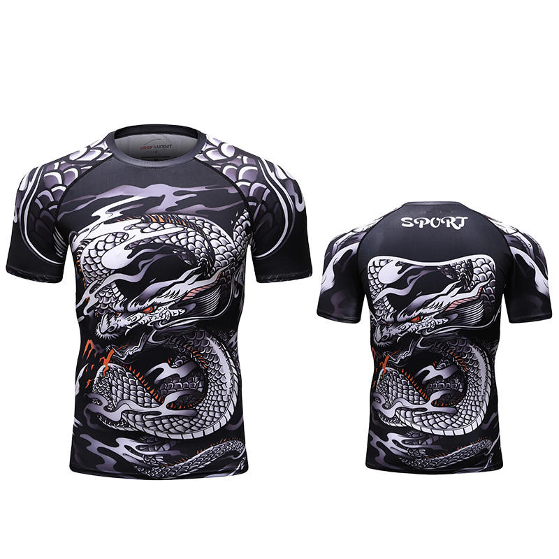 Design your own bjj rash guard ; cody lundin sublimated mma rash guards for men