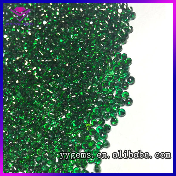 2017 1.25mm factory price loose nano emerald stones for sale
