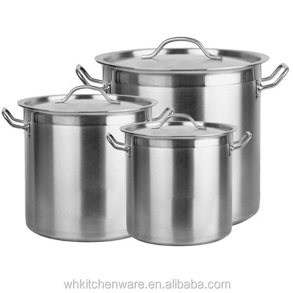NSF Listing Large Capacity Heavy Duty Stainless Steel 100 liter cooking pots for restaurant