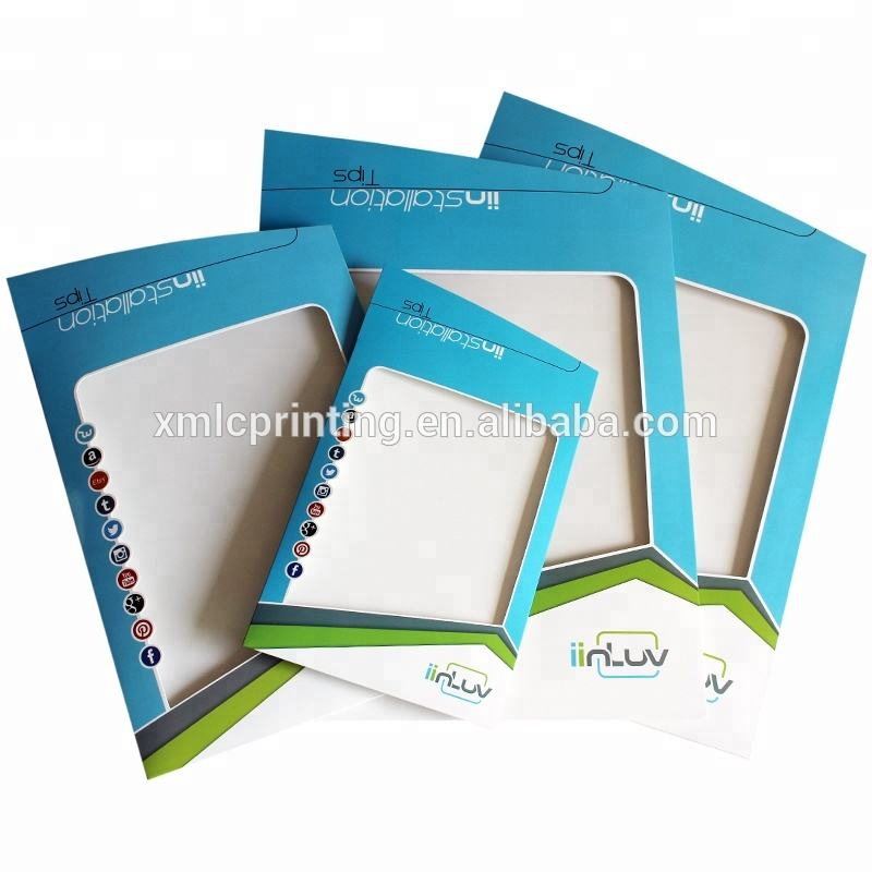 Laminated Spot UV Finishing Full Color Printing Cardboard Window Box / Cardboard Window Envelope With Clear PVC Window
