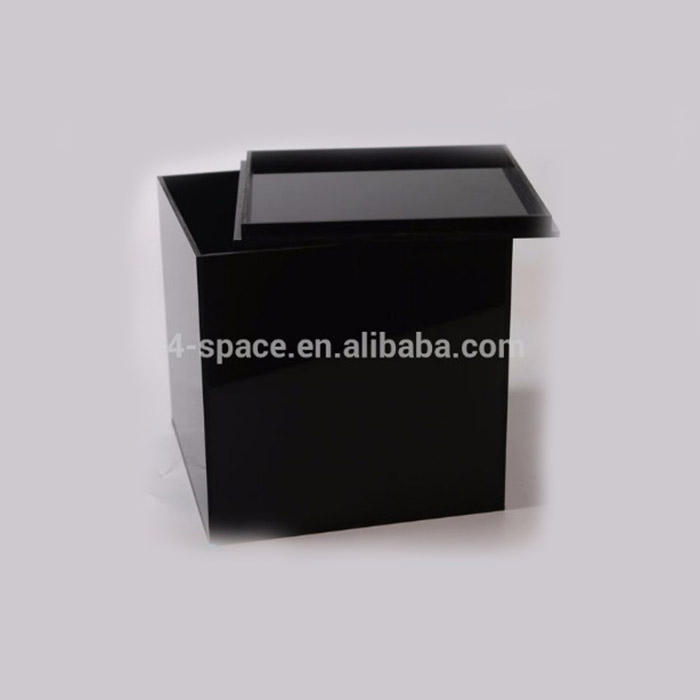 Square Black Acrylic DVD Storage Box
