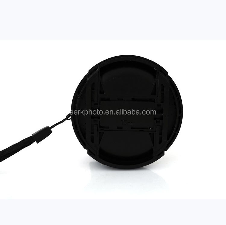 62mm Center Pinch Snap-On snap lens cap cover to protect lens for Camera DSLR
