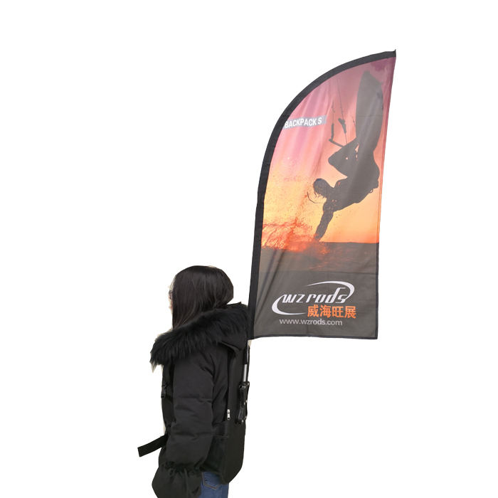 multi - functional moving backpack flag for Outdoor Advertising