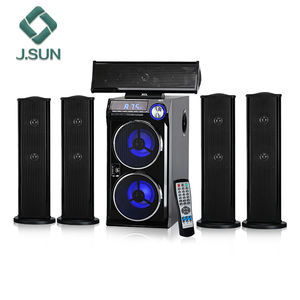 HOT!!! Duplo woofer hifi 5.1 usado sistema de home theater