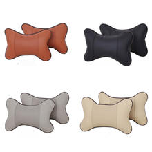 cheap pu leather dog bone shape headrest neck rest support cushion pillow for car