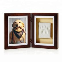 2018-2019  hot sale gift Dog or Cat Paw Print Pet Keepsake Photo Frame With Pet Clay Pawprint Imprint Kit