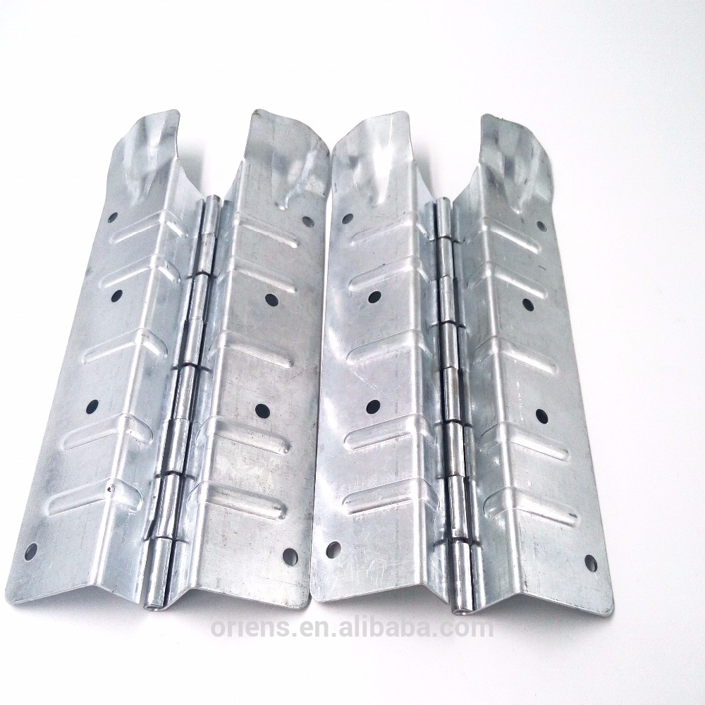 220*80*1.2mm sheet metal shipping container collar hinge galvanized steel pallet collar hinges for wooden crate
