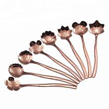 Rose Gold Stainless Steel Coffee Spoons