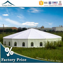 Outdoor 10m diameter tent circus with 850g/sqm double PVC-coated polyest fabric