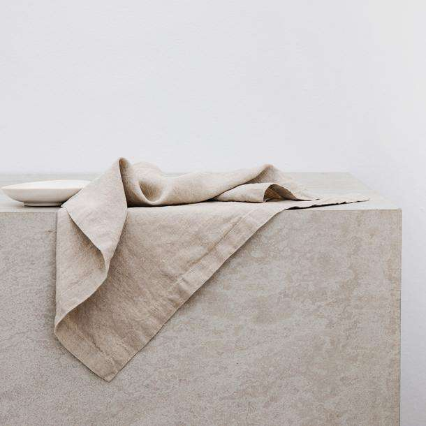 Pre-washed 100% Pure Linen Custom Natural linen Napkin
