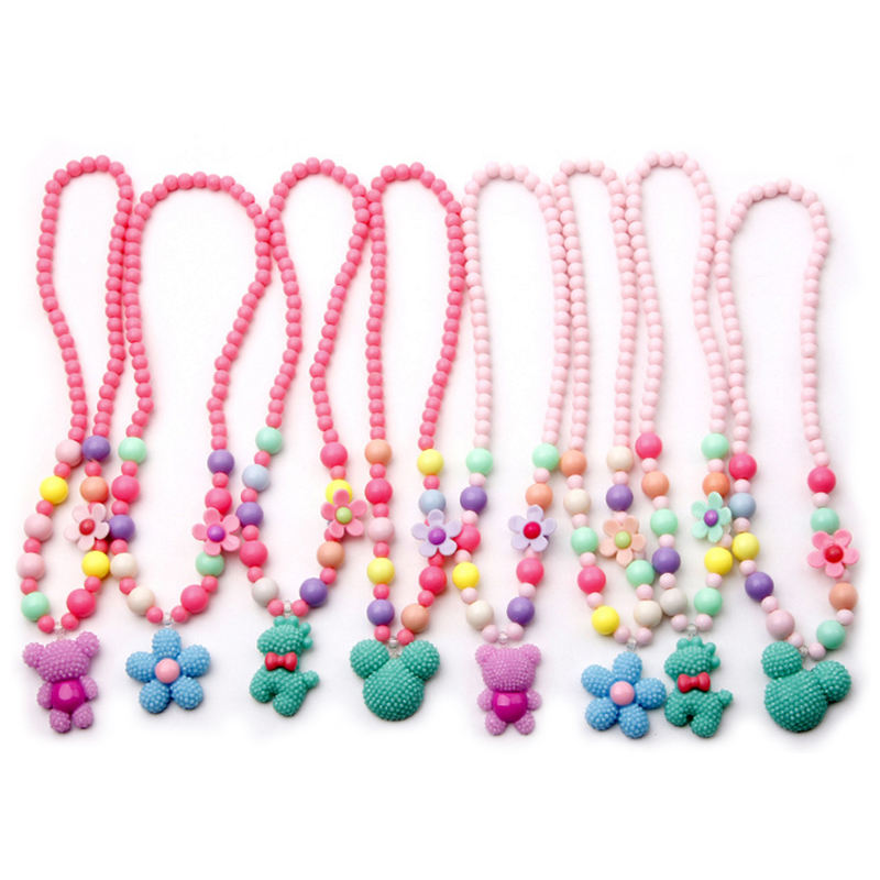 Bead [ Heart Jewelry ] Necklace Bead Heart Shape Acrylic Kids Jewelry Fancy Product Beaded Necklace
