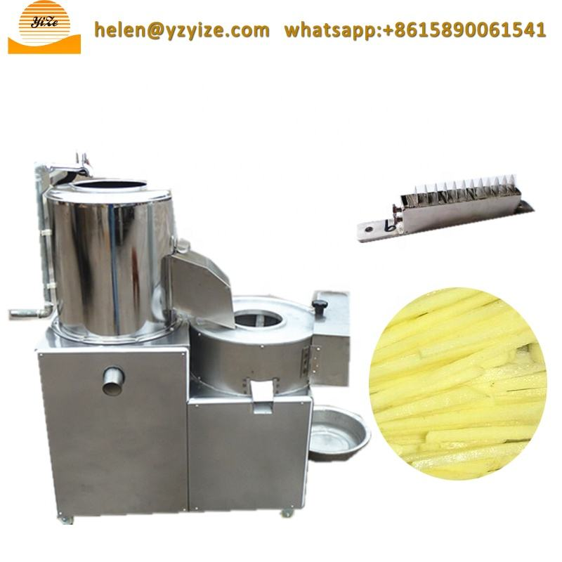 Potato Chips Carrot Washing and Peeling and Cutting and Slicing Machine