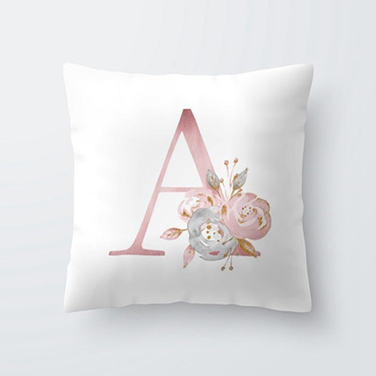 Kids Room decorative Letter pillowcase English Alphabet Cushion Cover Sofa Home Decoration Flower Cushion Cover