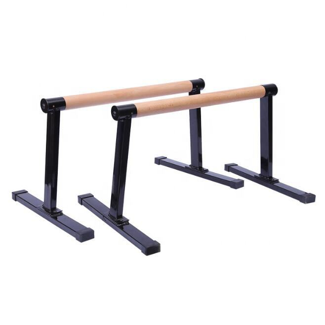 2019 Newest Stretch Stands Parallettes Wooden Push Up Bar Non-Slip Yoga Gymnastic Training Tool