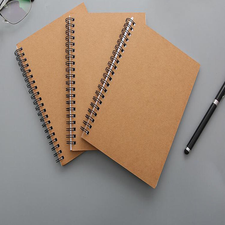 a4 a5 metal ring Wire Binding Bound Notepad Custom Spiral Note Book Notebook