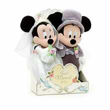 Minnie mickey wedding couple toy