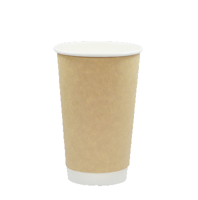 Custom Christmas Brown Kraft Carton 16oz Insulated Paper Coffee Cups To Go