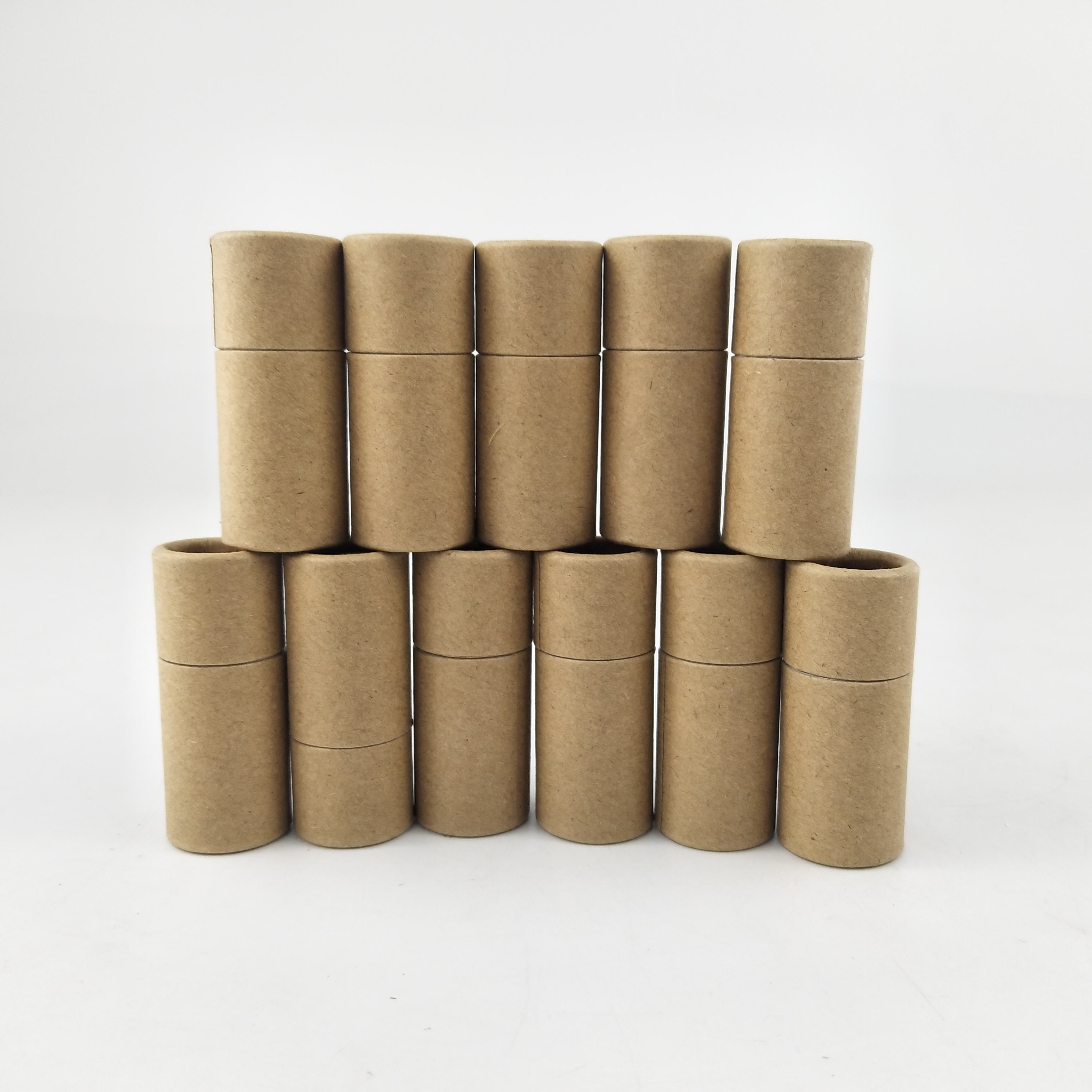 natural plain packaging eco paper kraft lip balm tubes deodorant stick container with wax paper