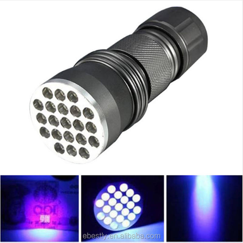 Tepat Waktu 21 LED UV <span class=keywords><strong>Senter</strong></span> <span class=keywords><strong>Blacklight</strong></span> LED UV Torch Harga Terbaik UV <span class=keywords><strong>Senter</strong></span> LED