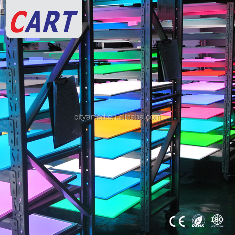Plaza RGBW RGB + W RGB + AAC cambia de Color de luz led panel de 2X2 2x4 superficie montado en la pared panel de luz led