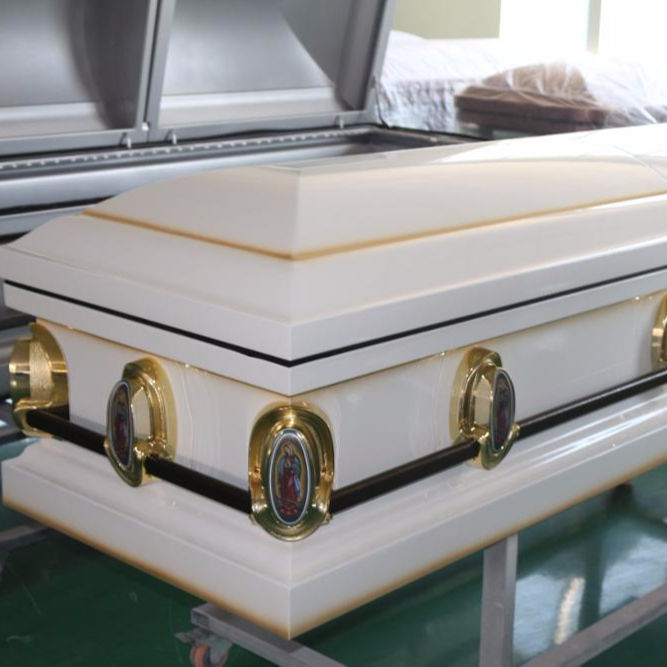 American Style cheap steel Caskets with casket interior made in china
